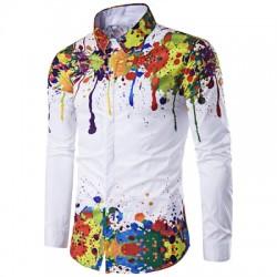 Turndown Collar Long Sleeve Shirt