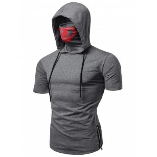 Hooded Short Sleeve T Shirt