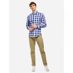 ZAN.STYLE Men Plaid Collar Dress Shirt