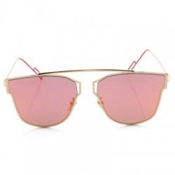 Metal Frame Coating Mirror Flat Panel Lens Design Sunglasses