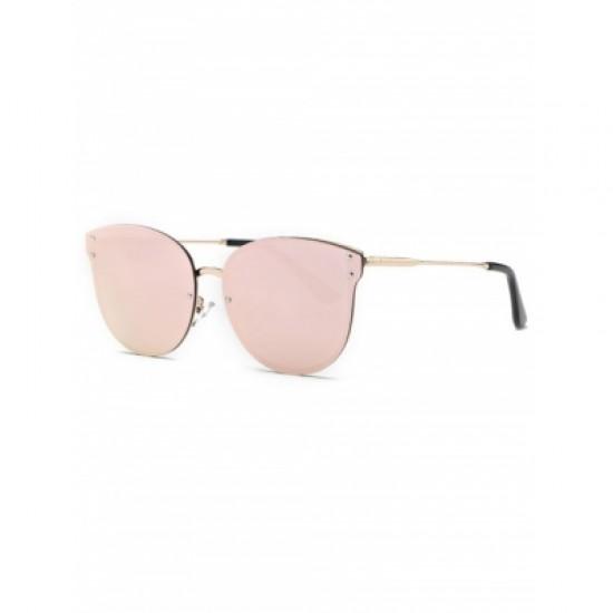 Pink Frameless Mirrored Sunglasses