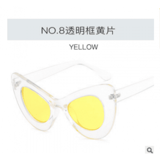 Big Large Cat Eye Butterfly Women Sunglasses Oversized Fashion Plastic Frame DW