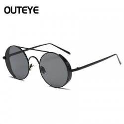 Fashion Round Metal Rim Vintage Polarized Sunglasses Glasses Retro Women Men