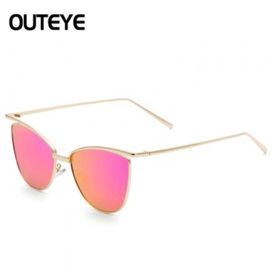 Unisex Women Gold Retro Cat Eye Sunglasses Classic Vintage Fashion Shades GG