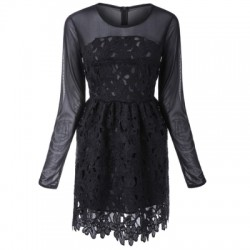 Lace Floral Embroidery Dress