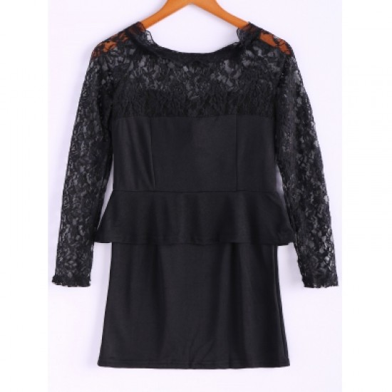Lace Splicing Dress