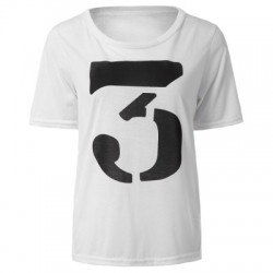 Figure Print Color Block T-Shirt
