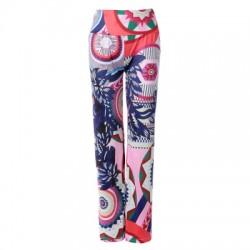 Elastic Waist Printed Loose-Fitting Exumas Pants