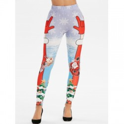 Christmas Santa Claus Print Leggings
