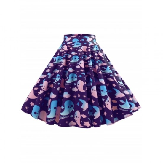 Halloween Mid Calf Skirt